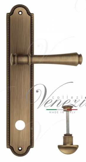 """Дверная ручка Venezia """"CALLISTO"""" WC-2 на планке PL98 матовая бронза"""