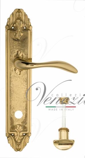 """Дверная ручка Venezia """"ALESSANDRA"""" WC-2 на планке PL90 полированная латунь"""