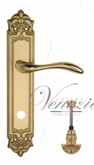 """Дверная ручка Venezia """"ALESSANDRA"""" WC-4 на планке PL96 полированная латунь"""