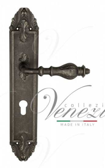 "Дверная ручка Venezia ""GIFESTION"" CYL на планке PL90 античное серебро"