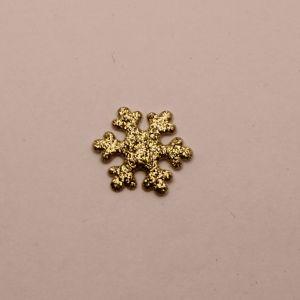 """Патч """"Снежинка"""", 22 мм, цвет золото (1уп = 25шт)"""