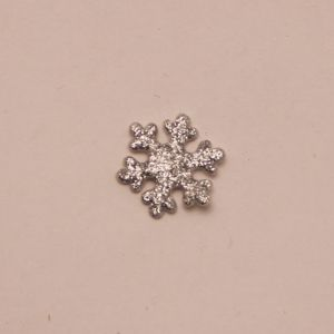 "`Патч ""Снежинка"", 22 мм, цвет серебро (1уп = 5шт)"