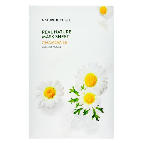 Маска для лица листовая с экстрактом ромашки Nature Republic (Нейчер Репаблик) 23 г