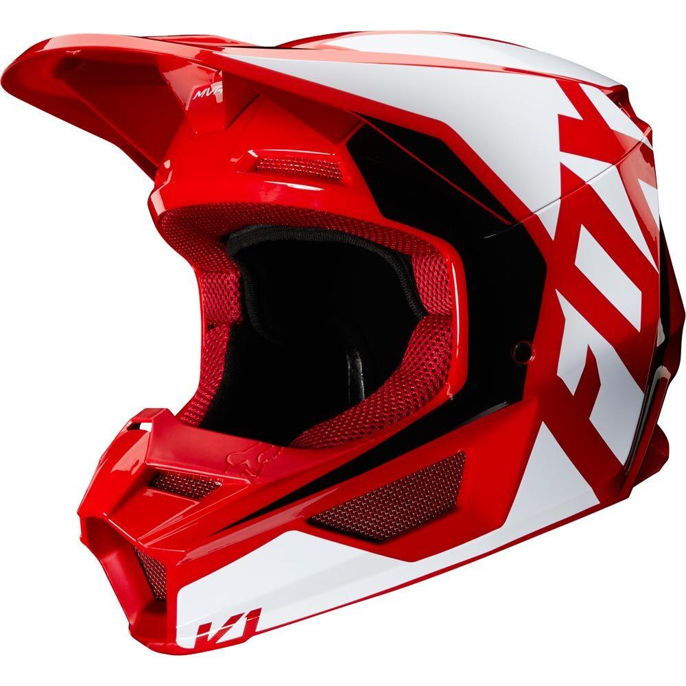 Fox - 2020 V1 Prix Flame Red шлем, красный