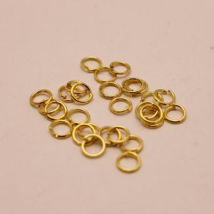 Кольцо соединительное 0,7*5мм, цвет: золото (1уп = 100шт)