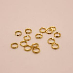`Кольцо пружинка 0,5*6мм, цвет: золото (1уп = 10шт)