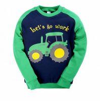Лонгслив для мальчика 2-5лет BabyStyle №BC123 сине-зеленый