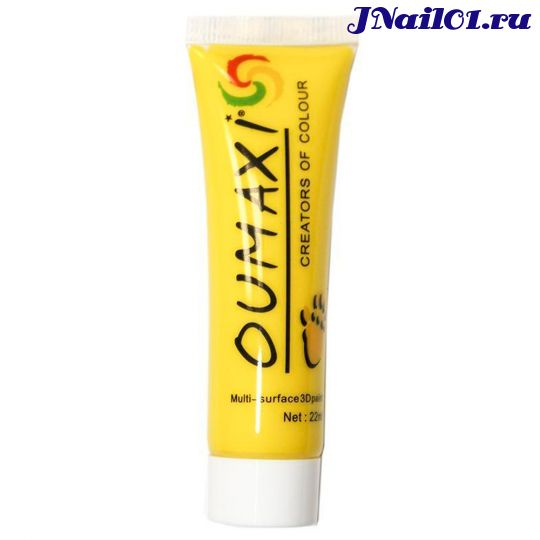 Oumaxi, Акриловые краски, цвет: желтый (12 мл)