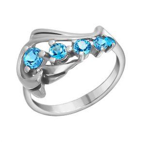 Кольцо из серебра с топазами 92010285 SOKOLOV