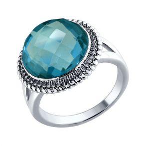 Кольцо из серебра с топазом 92010404 SOKOLOV