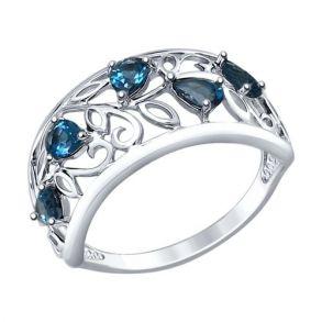 Кольцо из серебра с топазами 92011375 SOKOLOV
