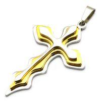 Нательный крест трехслойный