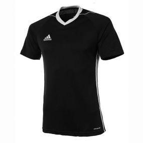 Детская игровая футболка adidas Tiro 17 чёрная