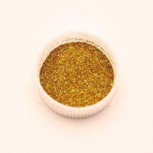 """Глиттер(блестки) 0,1мм(1/256""""), баночка 20мл, цвет: золото (1уп = 10баночек)"""