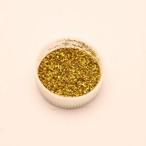 """Глиттер(блестки) 0,2мм(1/128""""), баночка 20мл, цвет: золото (1уп = 10баночек)"""