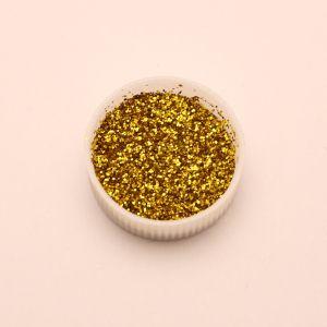 """Глиттер(блестки) 0,4мм(1/64""""), баночка 20мл, цвет: золото (1уп = 10баночек)"""