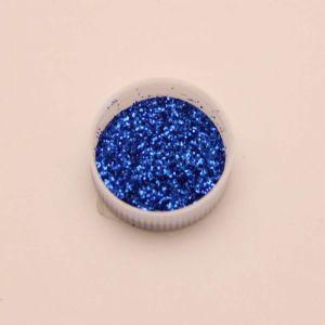 """Глиттер(блестки) 0,4мм(1/64""""), баночка 20мл, цвет: синий (1уп = 10баночек)"""