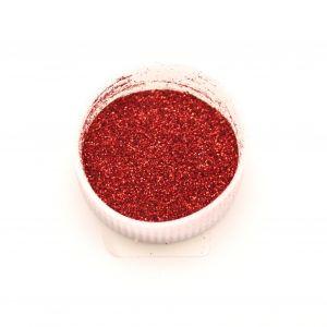 """`Глиттер(блестки) 0,1мм(1/256""""), баночка 20мл, цвет: красный"""