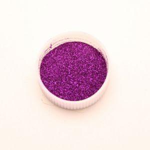 "`Глиттер(блестки) 0,1мм(1/256""), баночка 20мл, цвет: фиолетовый"
