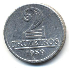 Бразилия 2 крузейро 1959