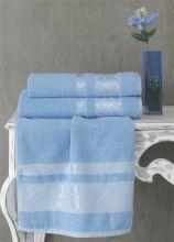 Полотенце махровое REBEKA 100*150 (голубое) Арт.3280-10