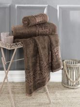 Полотенце бамбуковое ARMOND 70*140(коричневое) Арт.3308-10