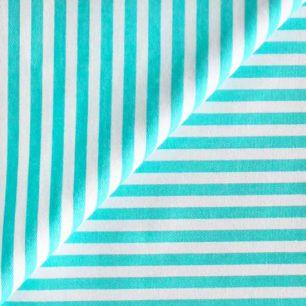 Ткань Хлопок Бирюзовая полоска 50x40