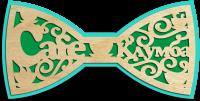 Деревянный галстук-бабочка с логотипом