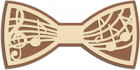 Деревянный галстук-бабочка музыка