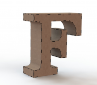 Объемная буква F