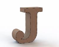 Объемная буква J