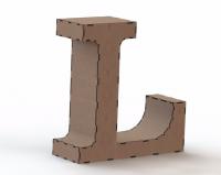 Объемная буква L