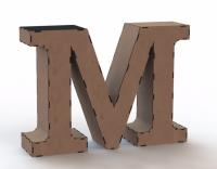 Объемная буква М