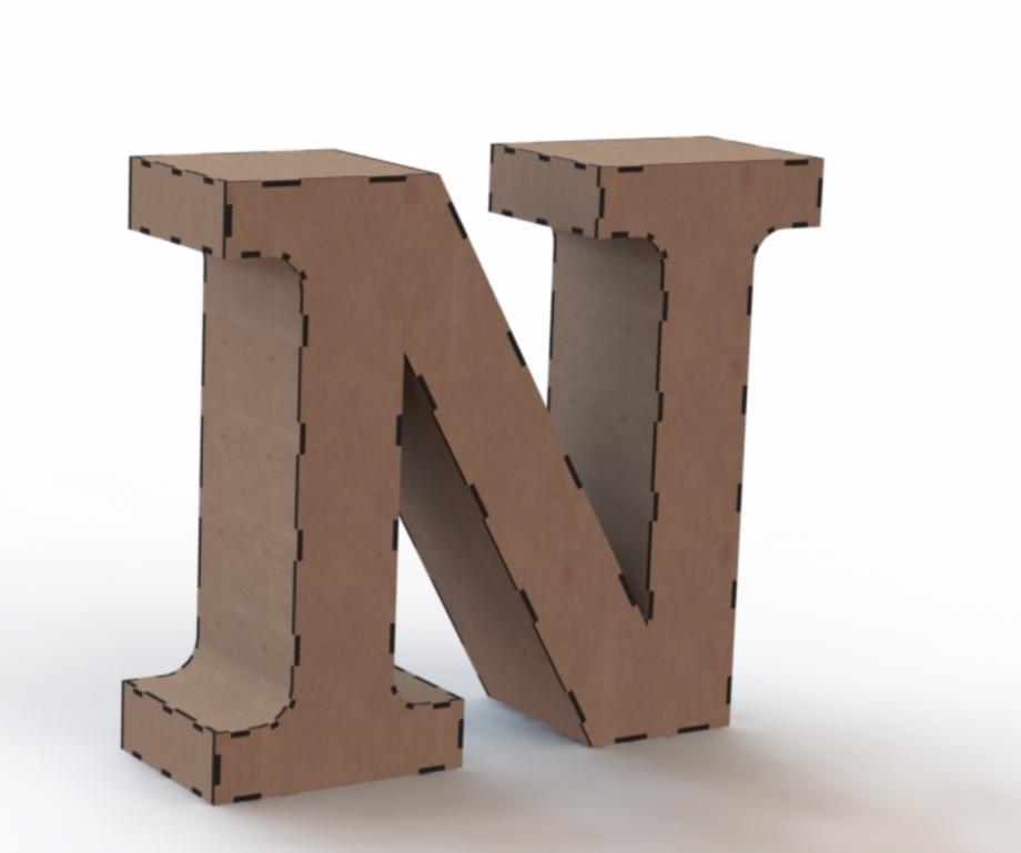 Объемная буква N