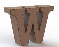 Объемная буква W