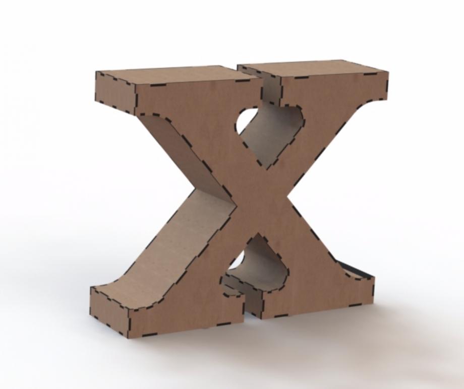 Объемная буква X