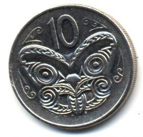 Новая Зеландия 10 центов 1980