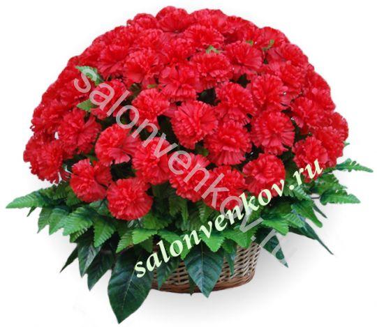 Ритуальная корзина из искусственных цветов N18, РАЗМЕР 60см