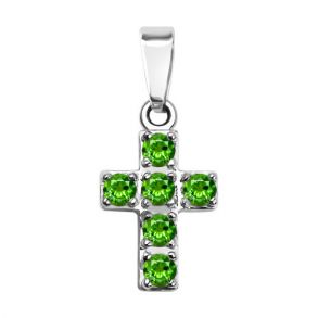 Декоративный крест с хризолитами 92030056 SOKOLOV