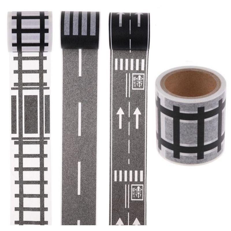Игровой скотч с дорожной разметкой Умная железная дорога, Размер 72 мм х 20 м
