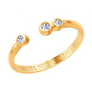 Кольцо из золочёного серебра с фианитами SOKOLOV x TerekhovGirl 93010781 SOKOLOV