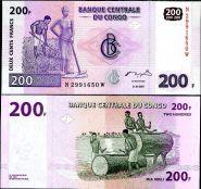 Конго - 200 Франков 2007 UNC