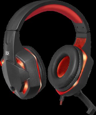 НОВИНКА. Игровая гарнитура Warhead G-370 черный+красный, кабель 2 м