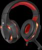 Игровая гарнитура Warhead G-370 черный+красный, кабель 2 м