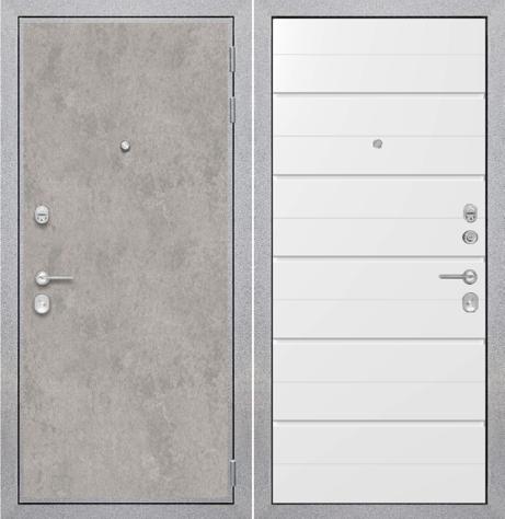"""Входная дверь ZMD """"Лофт бетон Лайн сноу"""""""