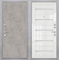 "Входная дверь ZMD ""Лофт бетон СБ белый глянец"""