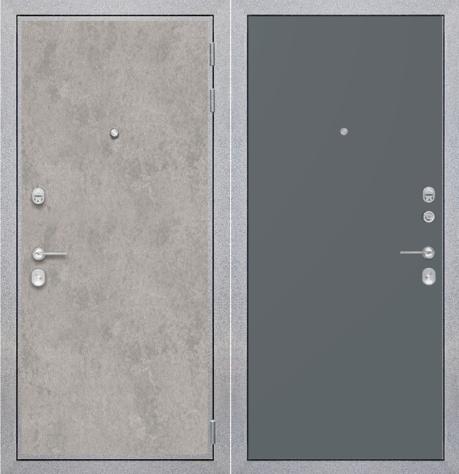 """Входная дверь ZMD """"Лофт бетон Гладкая титан"""""""