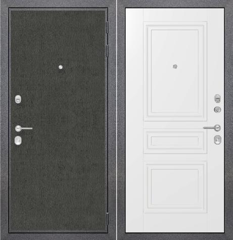 """Входная дверь ZMD """"Лофт графит Классика сноу"""""""