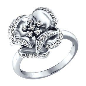 Кольцо из серебра с фианитами 94010210 SOKOLOV