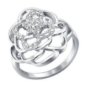 Кольцо из серебра с фианитами 94010334 SOKOLOV